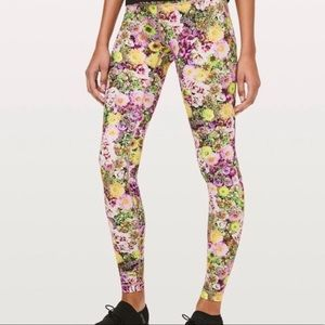 Lululemon Wunder Under Leggings In Rare Floral